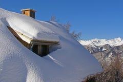 La Navidad en las montañas Fotografía de archivo libre de regalías