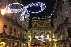 La Navidad en Lisboa Imágenes de archivo libres de regalías