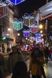 La Navidad en Lisboa Portugal Imagenes de archivo