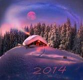 La Navidad en los Cárpatos Imagen de archivo libre de regalías