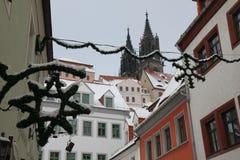La Navidad en Meissen Alemania imagen de archivo