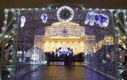 La Navidad en Moscú Imagenes de archivo