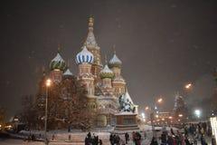 La Navidad en Moscú Catedral del St Basilâs fotografía de archivo libre de regalías