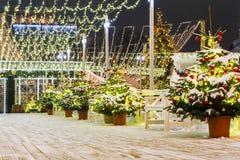 La Navidad en Moscú Decoración hermosa del ` s del Año Nuevo de Moscú s Fotos de archivo libres de regalías
