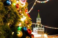 La Navidad en Moscú, Rusia Imagen de archivo libre de regalías