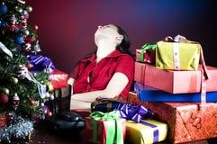 La Navidad en oficina Imagenes de archivo