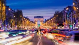 La Navidad en París Imagen de archivo libre de regalías