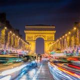 La Navidad en París Fotos de archivo