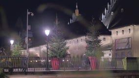 La Navidad en Petite France en Estrasburgo almacen de metraje de vídeo
