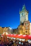 La Navidad en Praga (la UNESCO), República Checa Foto de archivo
