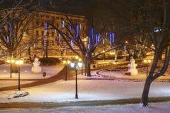 La Navidad en Riga Foto de archivo libre de regalías