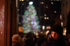 La Navidad en Rockefeller Fotos de archivo libres de regalías