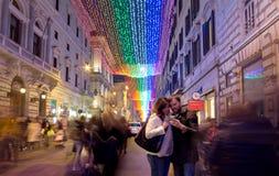 La Navidad en Roma Imágenes de archivo libres de regalías