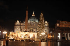 La Navidad en San Pedro Imágenes de archivo libres de regalías