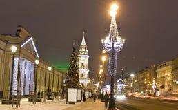 La Navidad en St Petersburg Imagen de archivo