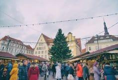 La Navidad en Tallinn Fotos de archivo libres de regalías