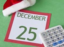 La Navidad en un presupuesto Foto de archivo libre de regalías