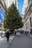 La Navidad en Wall Street imagen de archivo libre de regalías