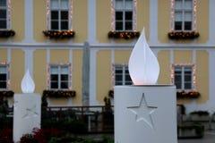 La Navidad en Zagreb, Croacia Foto de archivo libre de regalías