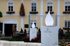 La Navidad en Zagreb, Croacia Imágenes de archivo libres de regalías