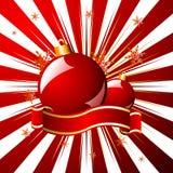 La Navidad estrellada sobre rojo Fotos de archivo libres de regalías