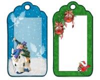 La Navidad etiqueta decoraciones aisladas stock de ilustración