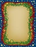 La Navidad Eve Border de Swirly Imágenes de archivo libres de regalías