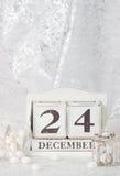 La Navidad Eve Date On Calendar 24 de diciembre Imágenes de archivo libres de regalías