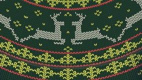 La Navidad fea del suéter desabrocha el lazo 4K ilustración del vector