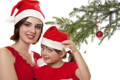 La Navidad feliz de la familia Imagenes de archivo