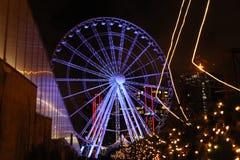 La Navidad Ferris Wheel foto de archivo libre de regalías