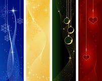 La Navidad festiva, banderas del invierno libre illustration
