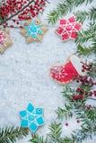 La Navidad festiva, salvapantallas del ` s del Año Nuevo, postal, fondo Fotografía de archivo libre de regalías