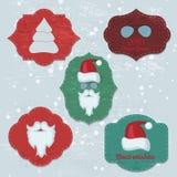 La Navidad fijada con las notas, etiquetas engomadas, etiquetas Imágenes de archivo libres de regalías