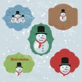 La Navidad fijada con las notas, etiquetas engomadas, etiquetas Fotos de archivo