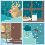 La Navidad fijada con los símbolos 2 del día de fiesta Imágenes de archivo libres de regalías