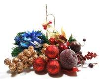 La Navidad fijada en blanco Foto de archivo libre de regalías