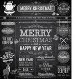 La Navidad fijada - etiquetas Fotografía de archivo