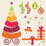 La Navidad fijada - naranja Fotografía de archivo libre de regalías