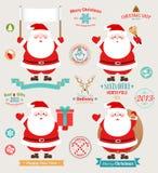 La Navidad fijada - Papá Noel ilustración del vector