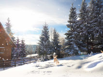 La Navidad Fondo del Año Nuevo Vacaciones de invierno Fotos de archivo