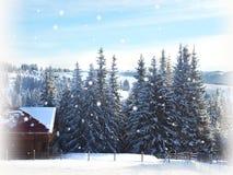 La Navidad Fondo del Año Nuevo Vacaciones de invierno Imagen de archivo