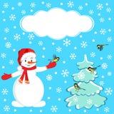 La Navidad, frontera del invierno, tarjeta Imagen de archivo libre de regalías