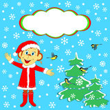 La Navidad, frontera del invierno, tarjeta Imagenes de archivo