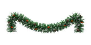 La Navidad Garland Decoration Imagen de archivo libre de regalías