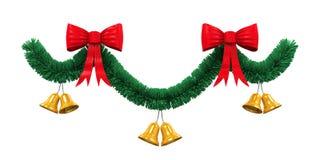 La Navidad Garland Decoration Fotografía de archivo
