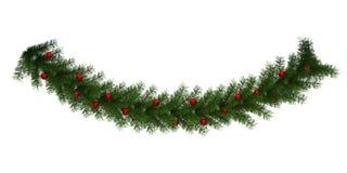 La Navidad Garland Decoration Isolated Imagen de archivo