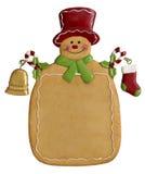 La Navidad Ginger Bread Man Imagen de archivo