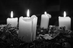La Navidad, guirnalda del advenimiento Imagen de archivo libre de regalías