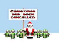 La Navidad ha estado cancelada Imágenes de archivo libres de regalías